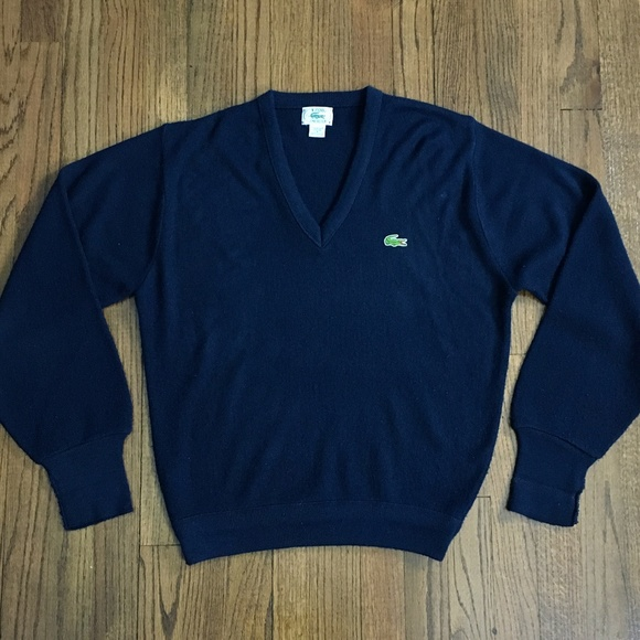 03c5aaab8a285 Vintage IZOD Lacoste Navy Sweater